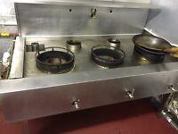 Chinese 5 burner LPG Gas Wok Range Cooker/ Burner fully working