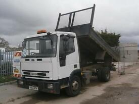 2003 IVECO-FORD CARGO TECTOR TIPPER LORRY TRUCK INSULATED DOUBLE DROPSIDE BODY