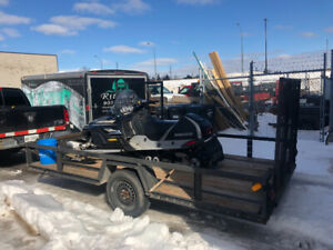 Snowmobile with Trailer