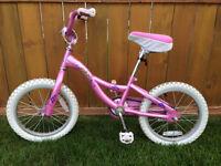 "Girls Pink 16"" Raleigh Bike - Good Condition"