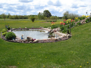 Red stone water pond for sale
