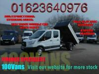 FORD TRANSIT 2.2TDCI NEW SHAPE DOUBLE CAB TIPPER WITH SEATS T350 L3 H1