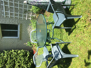 Set de patio, 4 chaises