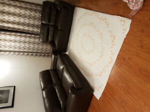 2 piece leather sofa for sale