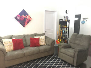 3 seater sofa and recliner chair for sale