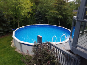 24ft Round Above-Ground Pool