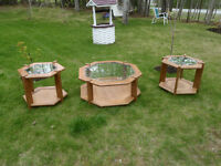 Glass Top Coffee Table/ End tables