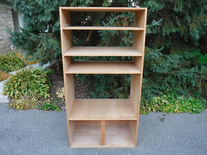 """Custom made shelving unit, 4 shelves, 35""""wX23""""X69""""T, very solid"""