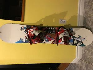 Board 128 cm fifty one fifty brand and bindings