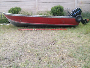 12' Aluminum Harbercraft Boat With Mercury 7.5hp Outboard