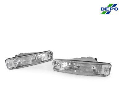 DEPO JDM Pair of Euro Clear Bumper Signal Lights For 1990-1991 Acura Integra Acura Integra Euro Clear Bumper