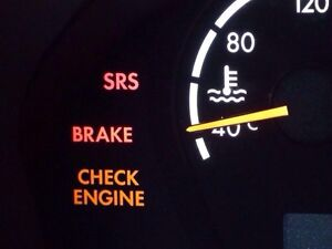 Check engine light, SRS/ABS lights, scaning and reset!