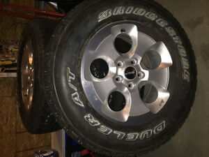 Jeep Wrangler Rims and Tires with sensors