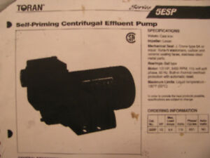 Pump: Toran Self-Priming Centrifugal Effluent Pump