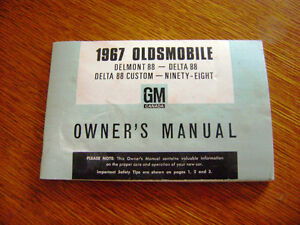1967 Oldsmobile Owners Manual