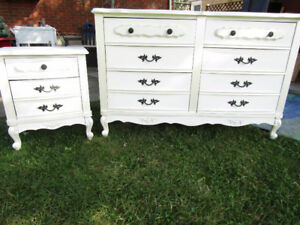 SOLD-French provincial Dresser & Matching Night Stand