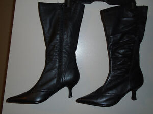 Brand new black leather boots , made in Germany. London Ontario image 5
