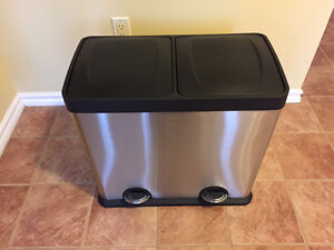 2-Compartment Waste/ Recycling Bin (48L) - Never used
