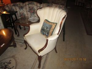 Pink Wing Chair