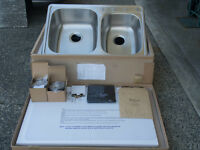 New Kitchen Sink 33x22x9 in Stainless Steel