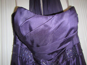 Floor-Length Strapless Dress - Violet