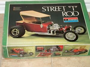 Monogram Street T Rod Plastic Model Kit 1/8 Scale