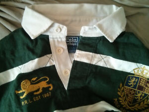 Polo Ralph Lauren Shirt with Green & White Stripes