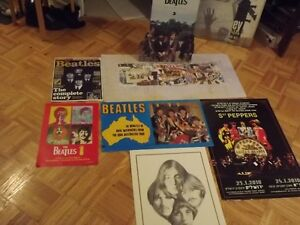 BEATLES POSTERS & COLLECTORS ITEMS:JOHN,PAUL,GEORGE ,RINGO