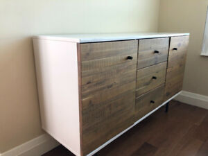 West Elm Reclaimed Wood + Lacquer Buffet. NEW!!!