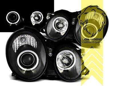LED Angel Eyes Scheinwerfer für Mercedes Benz CLK C208 Coupe A208 Cabrio schwarz