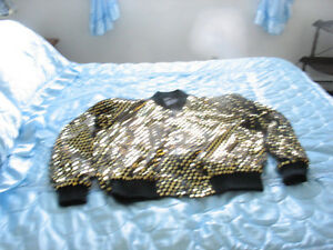 PLUS SIZE ONE OF A KIND BLING JACKET