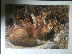 Carl Brenders Fox Family Full House. Artist signed, numbered Ltd