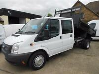 Ford Transit 350 Double Cab Tipper Diesel Truck Only 22K Miles
