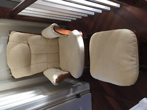 Dutailier ultra motion glide/lock/recline glider with ottoman!