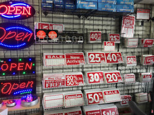 sale signs, reusable signs, display signs, store signs, racksign