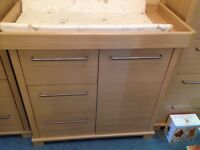Mamas and Papas Horizon chest of drawers and changing unit. Nursery.