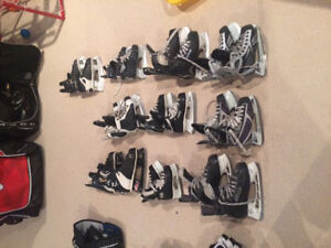 Various Sizes of Youth and Junior Skates