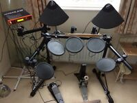 YAMAHA DTXPRESS ELECTRIC DRUM KIT SILENT PRACTICE ALL WORKING midi