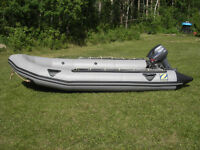 Zodiac Inflatable Boat with Yamaha 15 hp Outboard