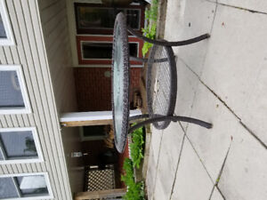 """Patio Table - approximately 48"""" diameter"""