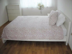 DOUBLE IKEA MALM BED with PILLOW TOP MATTRESS