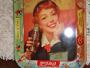2 --1960s Coca  Cola trays