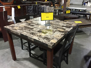 Marble Dining table set + 4 chairs