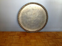 Solid brass Middle Eastern tray/platter