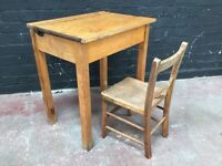 Beautiful 1940s Childs desk with chair