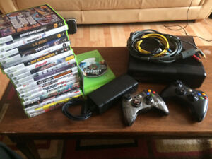 New Price! Xbox 360 with 20 games, 2 controllers.