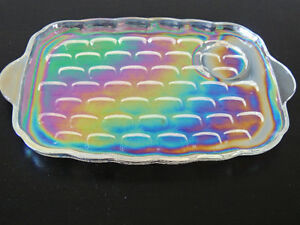 iridescent glass, carnival glass, tea and sandwich plate sets, London Ontario image 5