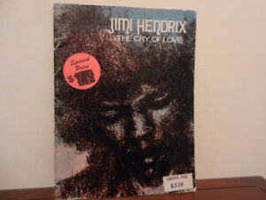 Jimi Hendrix 1971 Vintage The Cry of Love Songbook,Sheet Music,