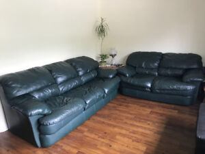Leather 4 piece set, couch, loveseat, 2 rocker recliners