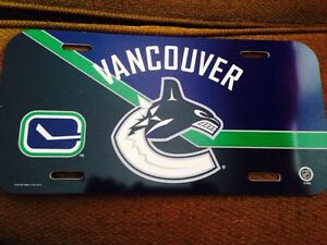 NHL Vancouver Canucks License plate